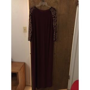 long maroon prom dress